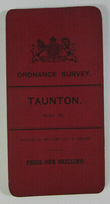 1905 Old Antique OS Ordnance Survey Half-Inch Map 85 Taunton - Hill Shaded