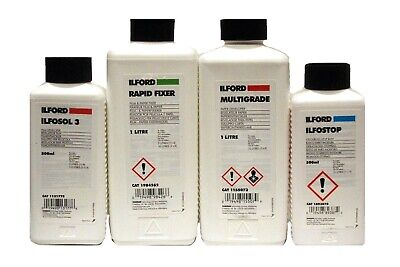 ILFORD Black & White Chemistry for Film and Paper Processing