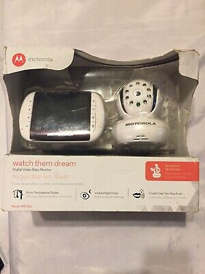 As Is Working Motorola MBP36S Digital Video Baby Color Monitor Bad Charger