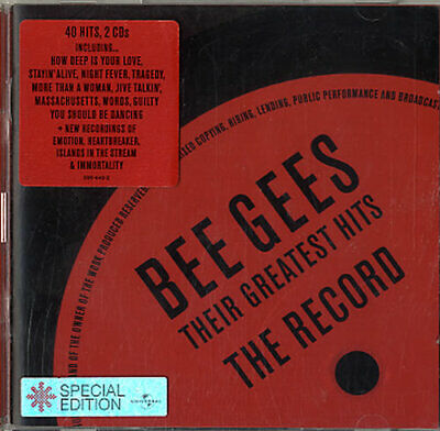 Their Greatest Hits: The Record Bee Gees UK 2 CD album (Double CD) 5894492
