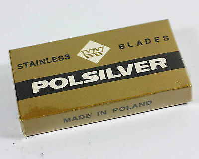 Vintage Pack Polsilver Safety Razor Double Edge Blades Poland Old New Stock