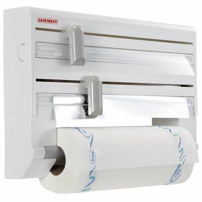 Leifheit Portarrollos de Cocina de Pared Blanco Organizador Dispensador Papel