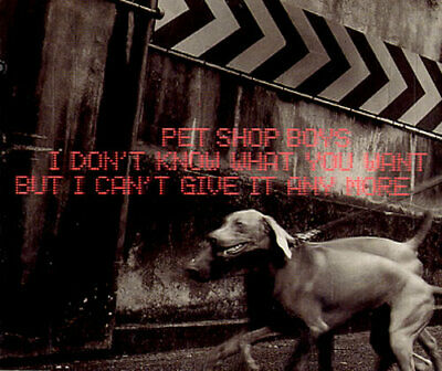 """I Don't Know What You Want... Pet Shop Boys Dutch CD single (CD5 / 5"""") 8874962"""