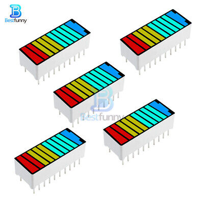5PCS 10 Segment 4 Color  LED Display Digital Tube Bar Graph Light Indicator