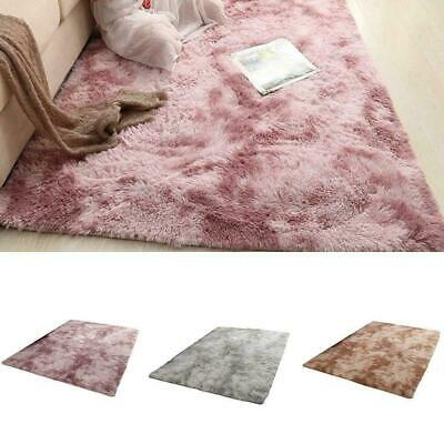 Large Thick Plain Soft Shaggy PILE Rug Living Room Bedroom Carpets Floor A5Q2