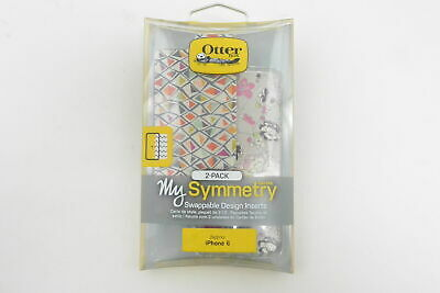 New OtterBox Symmetry Series Blossom/Fractiie Swappable Inserts For iPhone 6/6s