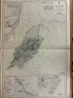 Vintage Admiralty Chart 2094 ISLE OF MAN 1915 edition DECCA Chart