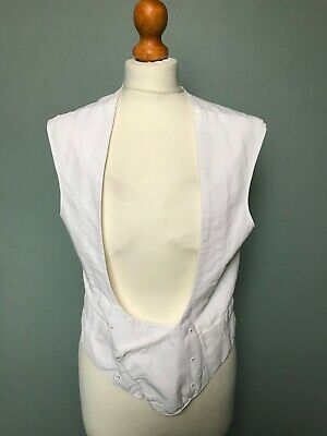 Vintage 1920's 1930's white tie evening double breasted waistcoat size 36