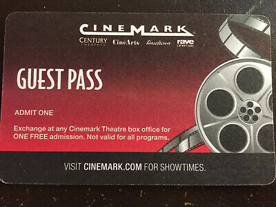 Cinemark movie ticket pass