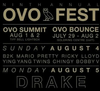 OVO Fest tickets for Monday Aug 5 (Drake)