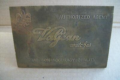 Vagean Watches, Authorized Agent, Dealer Sign, Brass, Metal, Gas, Oil, Signs.