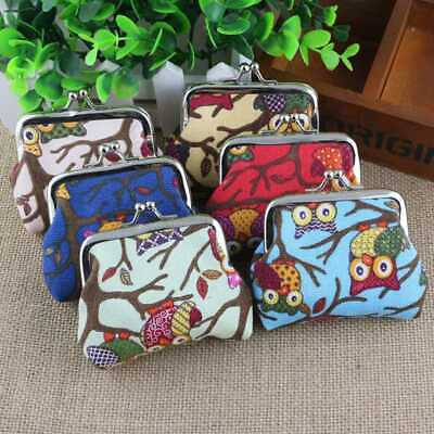 Mini Bag Lady Canvas Wallet Owl Cartoon Child Hasp Coin Purse Lovely Convenient