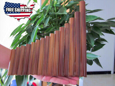15 Maple Woodwind Pan Flute Natural Bamboo Handmade Pipes instrumentos musicales