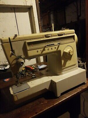 Vintage Singer Sewing Machine Stylist 533 Cover Good Condition