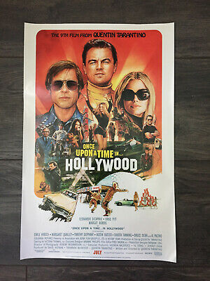 "'Once Upon A Time in Hollywood' Quentin Tarantino Movie Poster New 11"" x 17"""