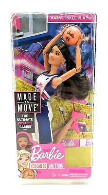 Barbie You Can Be Anything Made to Move Ultimate Posable Doll Basketball Player