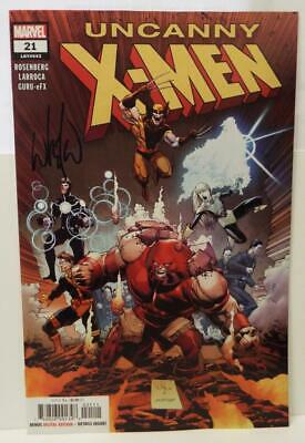 SDCC 2019 MARVEL UNCANNY X-MEN # 21 Signed by WHILCE PORTACIO with COA...