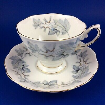 Royal Albert Silver Maple Bone China Tea Cup And Saucer - 2 Sets Available