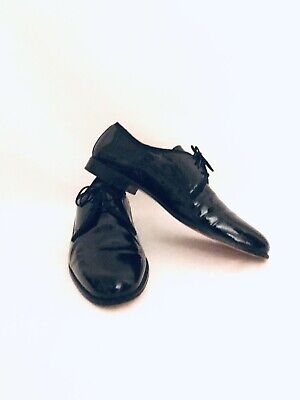 Vito Rufolo Made In Italy Mens Size 9 M Black Oxfords Tuxedo Dress Shoes Formal