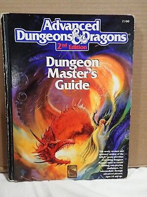 Advanced Dungeons & Dragons Dungeon Master's Guide DMG 2ED TSR 2100 Play/display