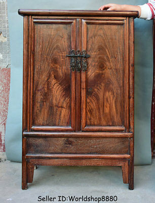 "39.6"" Rare Old China Huanghuali Wood Dynasty Cupboard Cabinet Antique Furniture"