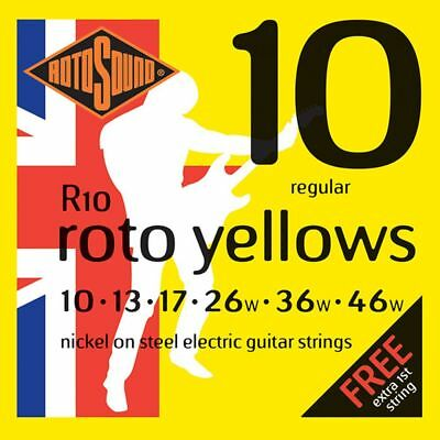 Rotosound R10 Roto Yellows, Nickel, Regular - 10-46