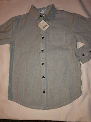 Janie & Jack Boys 10 Button Up Shirt Light Green Holiday Pictures NWT New