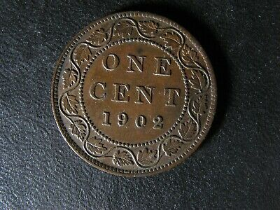 1 cent 1902 Canada one penny copper coin large King Edward VII c ¢ AU-55