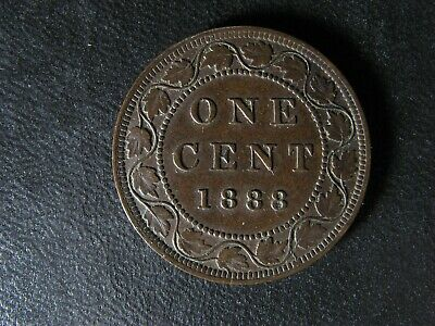 1 cent 1888 Canada one penny copper coin large Queen Victoria c ¢ AU-50