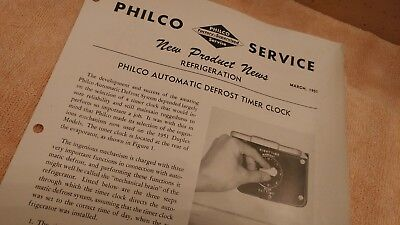 Mar 51 Philco New Product News Refrigeration Auto Defrost Timer Clock 4 pp Ads