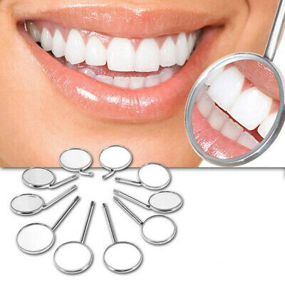 10PC Dental Mouth Mirror Reflector Odontoscope Dentist Equipment Stainless Steel