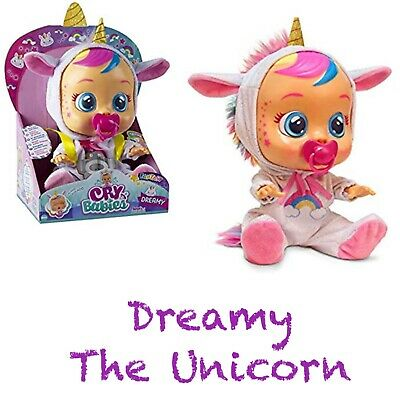 Baby Wow IMC Cry Babies Dreamy The Unicorn baby Doll New 2019 Cry's Real Tears