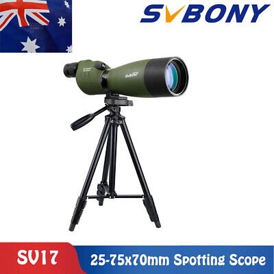 "SVBONY SV17 25-75x70mm Straight Spotting Scope For Hunting+49""Tripod AU LOCAL"