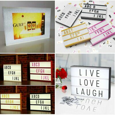 A4 LIGHT BOX Letter Cinema Style Sign LED DIY Emoji Wedding Plaque