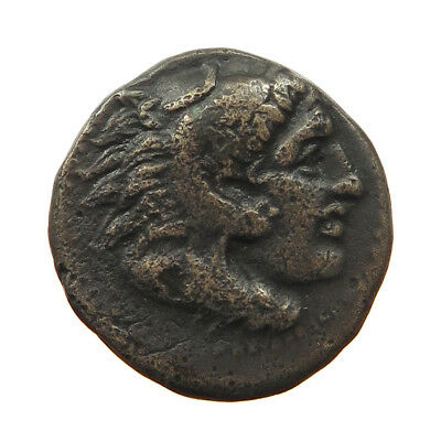 GREECE ANCIENT AE MACEDONIA ALEXANDER THE GREAT BOW / CLUB 16MM  4.7G #t56 563