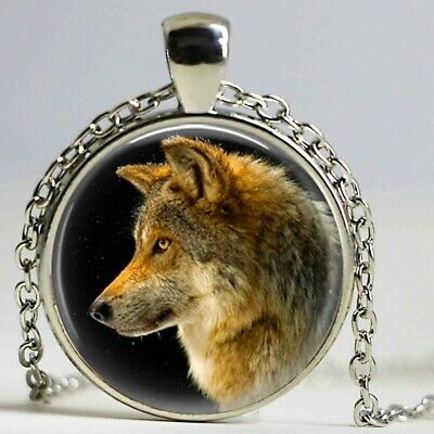 Collar lobo wolf animal angeles whale necklace caballo picture pendant necklace