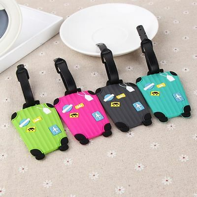 Korean Cartoon Silicone Luggage Tags Baggage Suitcase Name ID Tag Travel Labels