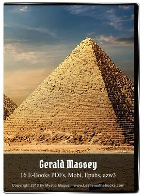 Gerald Massey Book Set, Lot On CD/ DVD  Jesus Gnosis Egypt Beginnings Lectures