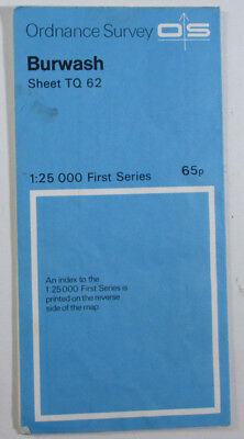 1959 Old Vintage OS Ordnance Survey 1:25000 First Series Map TQ 62 Burwash