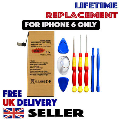 Genuine GOLD Full High Capacity Replacement Battery 2980mAh for iPhone 6 Tools