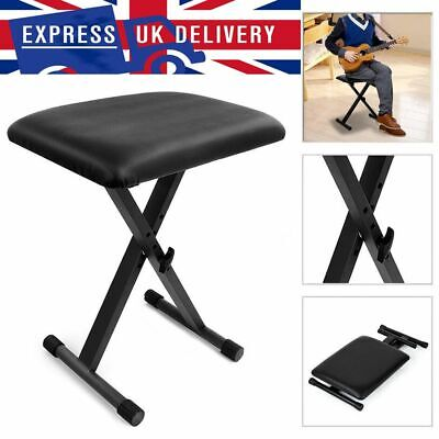 Black Piano Stool Keyboard Bench Padded Seat Cushion Chair Adjustable Height