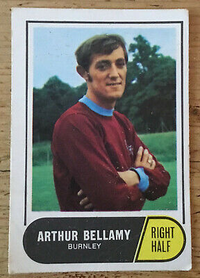 A & BC Football Cards 1969/70 (Green) - Arthur Bellamy, Burnley #124 (A29c)