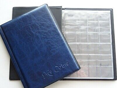 Coin Collectors Album 108 MIX Coins perfect for british and world coins  BLUE
