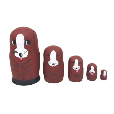 5-Layer Cute Nesting Dolls Puppy Dog Russian Stacking Dolls Collection Toy Set