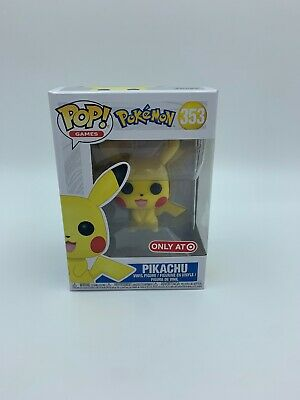 FUNKO POP POKEMON PIKACHU #353 TARGET EXCLUSIVE 100% AUTHENTIC - Damaged Box