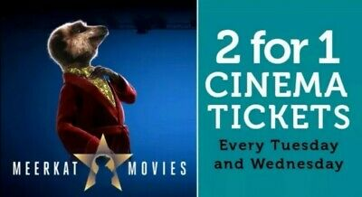 Meerkat Movies 2 For 1 Cinema Code *Instant* Valid Tues 20th or Weds 21st Aug