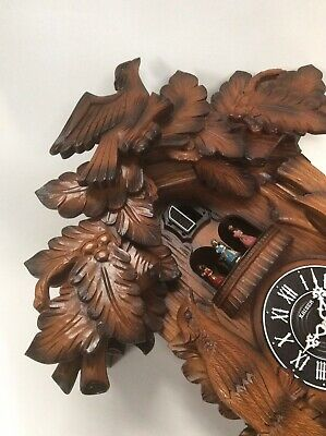 Vintage West German CUCKOO CLOCK, Retro Wooden Wall Mounted Ornament, Untested