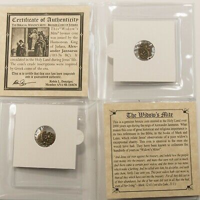 Ancient Bronze Coin Widows Mite Authentic Collection