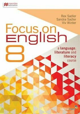 NEW Focus on English 8 - Student Book and Digital Access By Rex Sadler Viv Winte
