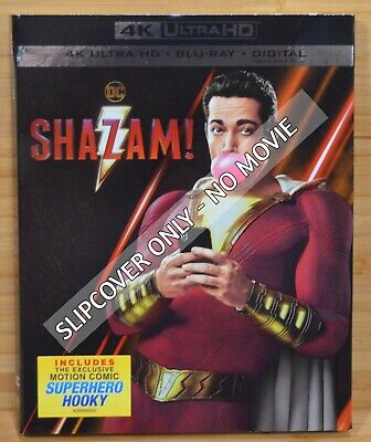 SHAZAM 4K UHD Blu-ray Slipcover Dust Cover (NO MOVIE DISC)